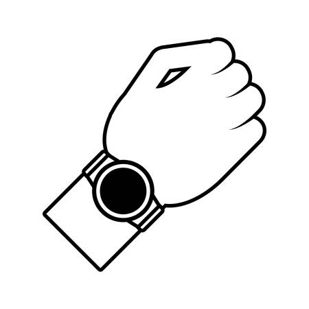 smart watch wearable new wearable outline vector illustration eps 10 Illustration