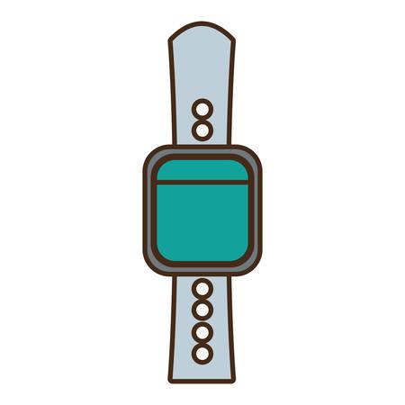 cartoon smart watch wearable technology vector illustration eps 10