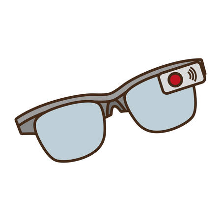 ar: cartoon ar smart glasses device digital vector illustration eps 10