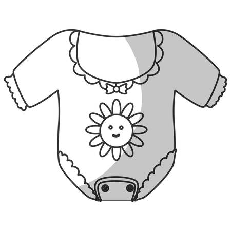 baby clothing icon over white background. vector illustration