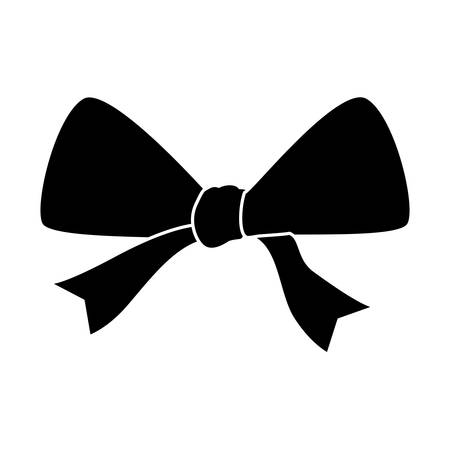 bow ribbon icon over white background. vector illustration