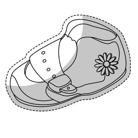 baby shoe icon over white background. vector illustraiton