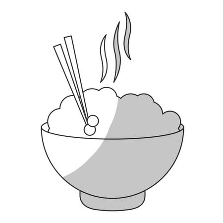 bowl of noodles icon over white background. vector illustration