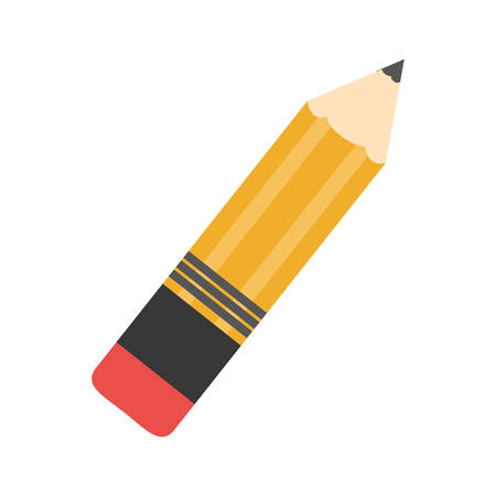 yellow pencil icon over white background. colorful design. vector illustration Illustration