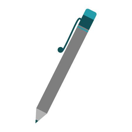 pen icon over white background. colorful design. vector illustration