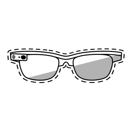ar: ar smart glasses device virtual shadow vector illustration eps 10 Illustration