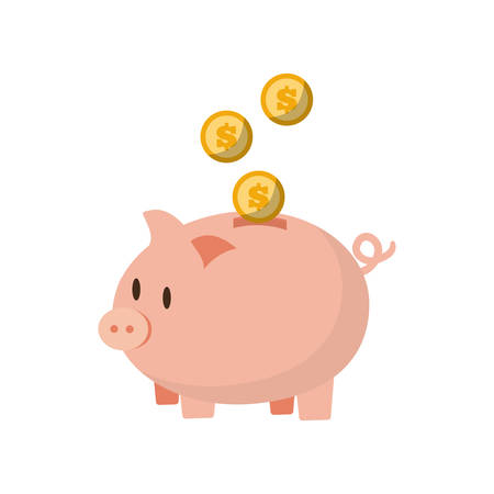 save money piggy coins bank vector illustration eps 10