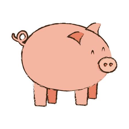 pink piggy save money bank vector illustration eps 10