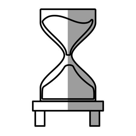 allocate: clock glass sand business clock money shadow vector illustratione eps 10