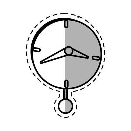 clock time business money pendulum shadow vector illustration eps 10