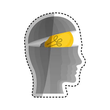 Human head silhouette Design Vector illustration, white background