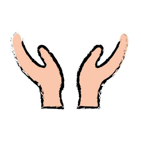 Human hand silhouette Design Vector illustration, white background Illustration