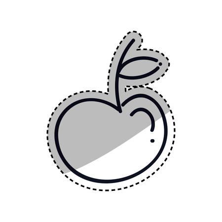 Apple fruit silhouette Design Vector illustration, white background