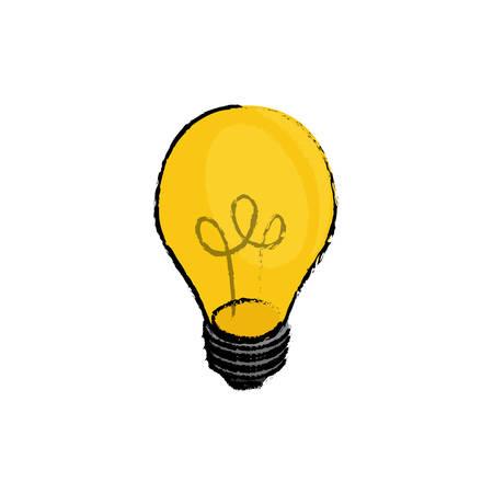 Isolated bulb light Design Vector illustration, white background