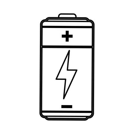 voltmeter: Rechargeable electric battery icon vector illustration graphic design