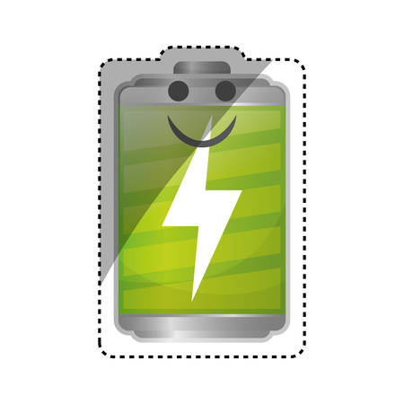 Rechargeable electric battery icon vector illustration graphic design
