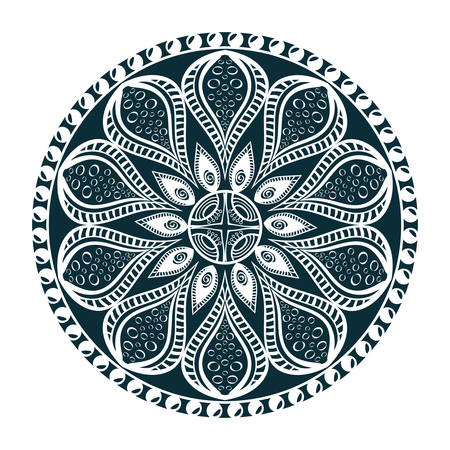 Mandala oriental symbol icon vector illustration graphic design Illustration