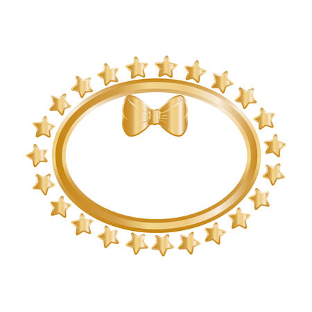 golde: Golden stars in circle icon vector illustration graphic design
