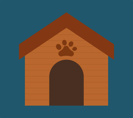 trusting: pet house related icon image vector illustration design