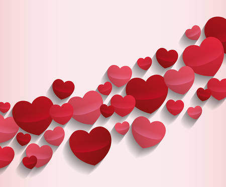 love image: cartoon heart pattern love image vector illustration design Illustration