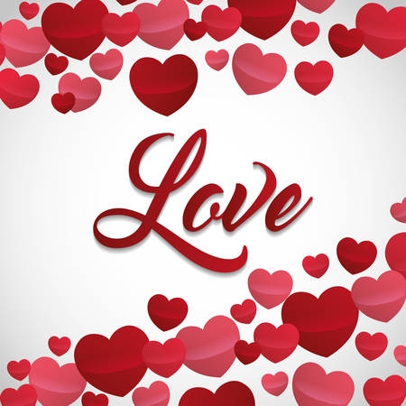 love valentines day related image  vector illustration design Illustration