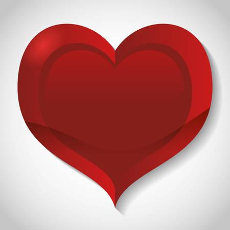 love image: shiny texture cartoon heart love image vector illustration design Illustration