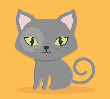 trusting: cat pet icon image vector illustration design