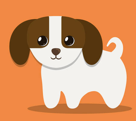 trusting: dog pet icon image vector illustration design Illustration