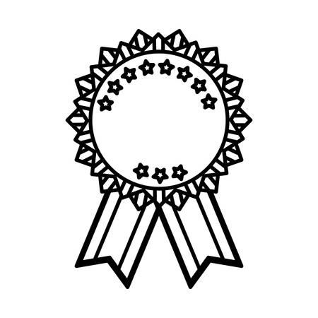 Isolated ribbon award icon vector illustration graphic design Illustration