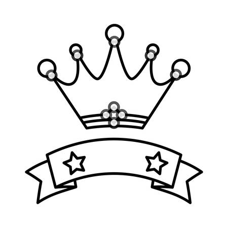 Crown royal symbol icon vector illustration graphic design