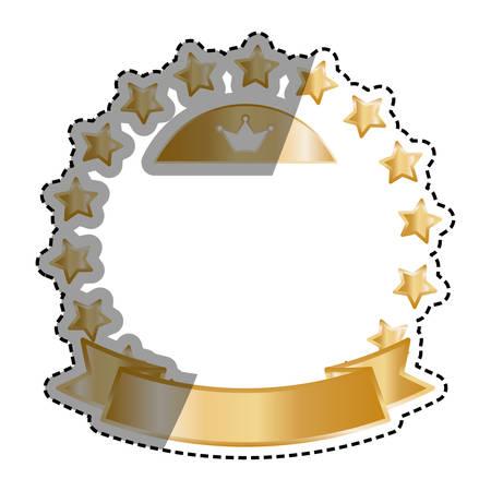 Golden stars in circle icon vector illustration graphic design