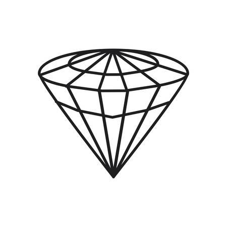 jewerly: Diamond Luxury jewerly icon vector illustration graphic design