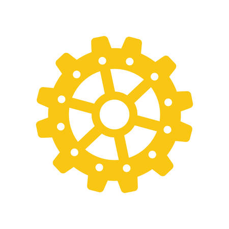 isolated gear piece icon vector illustration graphic design