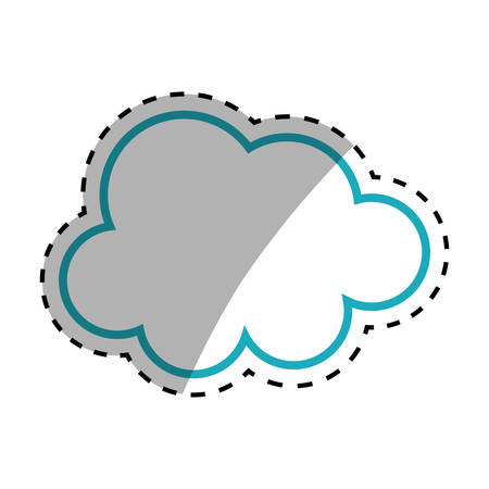 Isolated cloud symbol icon vector illustration graphic design