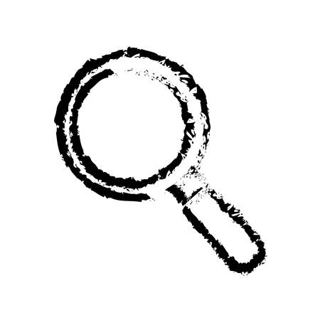 analyze: isolated magnifying glass icon vector illustration graphic design