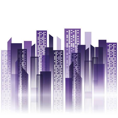 city view: Urban city view icon vector illustration graphic design