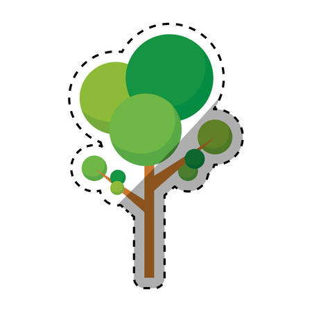 rounds: isolated natural tree icon vector illustration graphic design Illustration