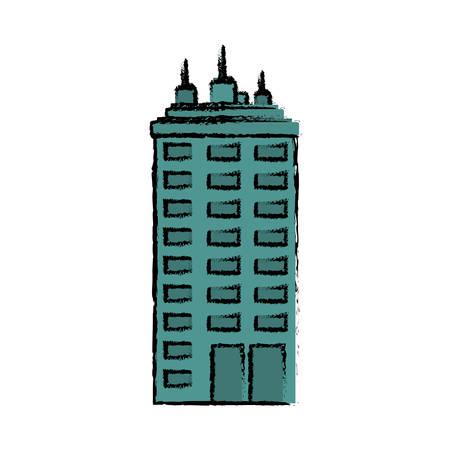 urban city: Urban city tower icon vector illustration graphic design