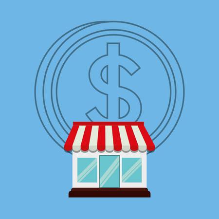 conception graphique de magasin de marché