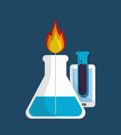 flamme: Science chemistry laboratory icon vector illustration graphic design