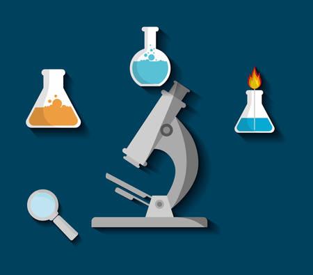 Science chemistry laboratory icon vector illustration graphic design