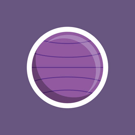 stability: stability ball workout icon vector illustration graphic Illustration