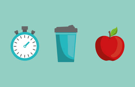 Fitness healthy food icon vector illustration graphic