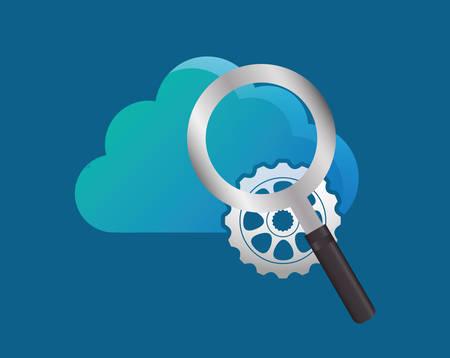 Cloud computing technology icon vector illustration graphic design Illustration