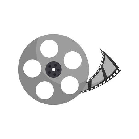 Movie roll equipment icon vector illustration graphic design