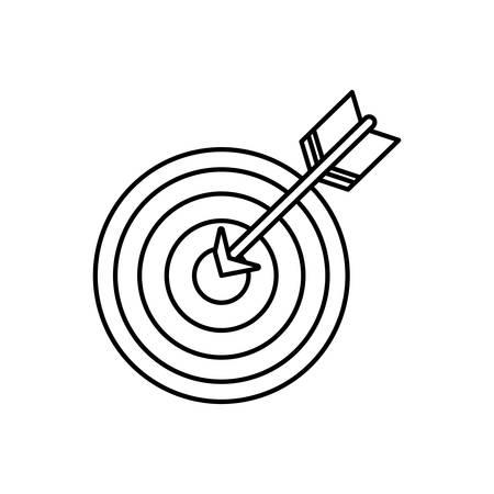 dartboard: Isolated dartboard target icon vector illustration graphic design Illustration