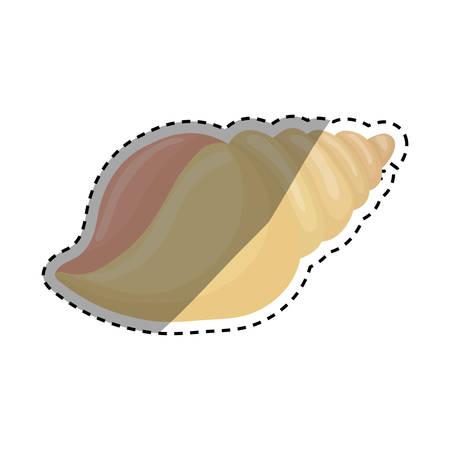 sea shell creature icon vector illustration graphic design