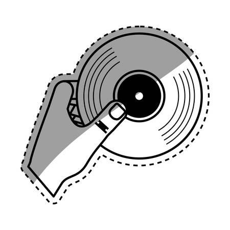 Vinyl vintage record icon vector illustration graphic