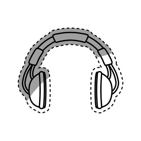 Music headphones device icon vector illustration graphic