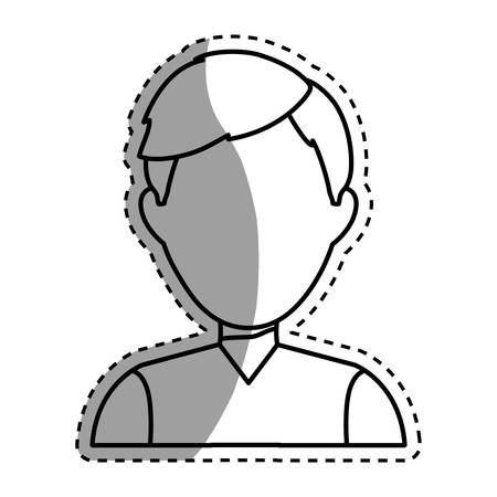 man profile: Young Man profile icon vector illustration graphic